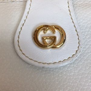 Gucci Bags - Authentic Vintage Gucci White Gold Logo Wallet